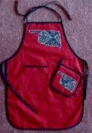 red Oklahoma apron
